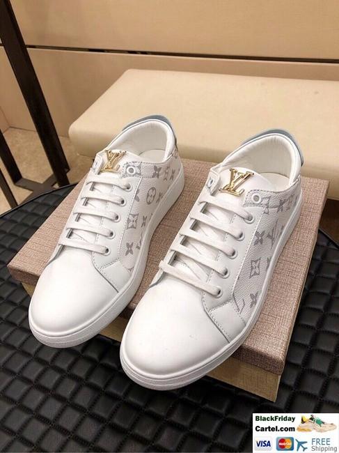 Hight Quality Louis Vuitton 2019 Men's Classic White Casual Shoes