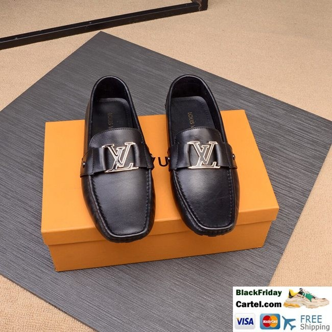 Hight Quality Louis Vuitton 2019 Men's Black Casual Peas Shoes