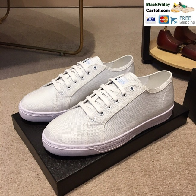 01c3f35b Hight Quality Prada 2019 Men's White Casual Cloth Shoes