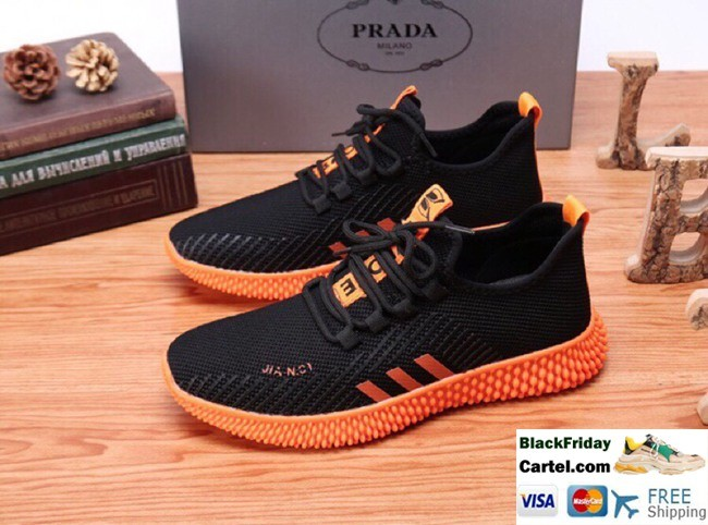 Hight Quality Prada 2019 Summer Breathable Comfortable Men's Black Casual Shoes