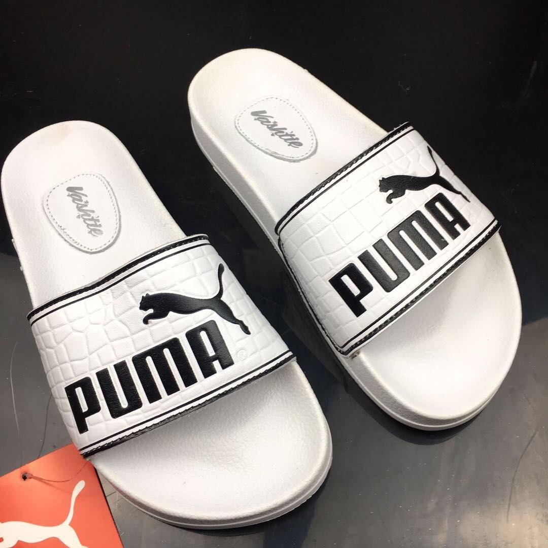 PUMA White Beach Slippers New Style