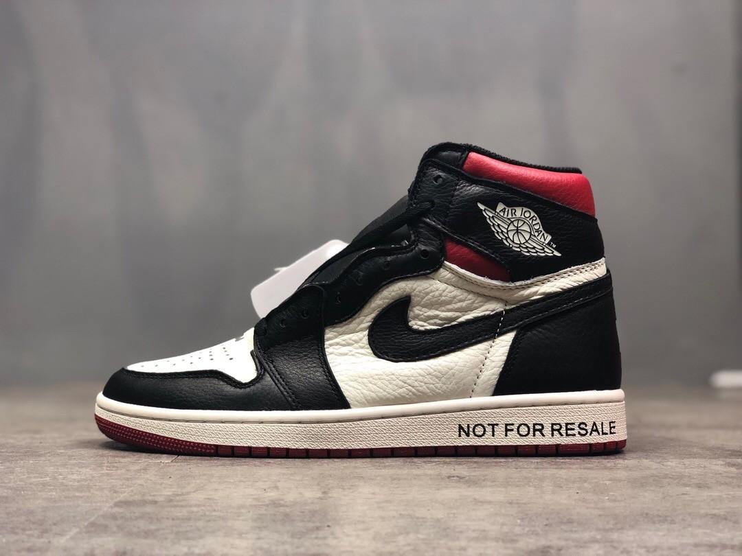 Air Jordan 1 High AJ  Black&White Running Shoes