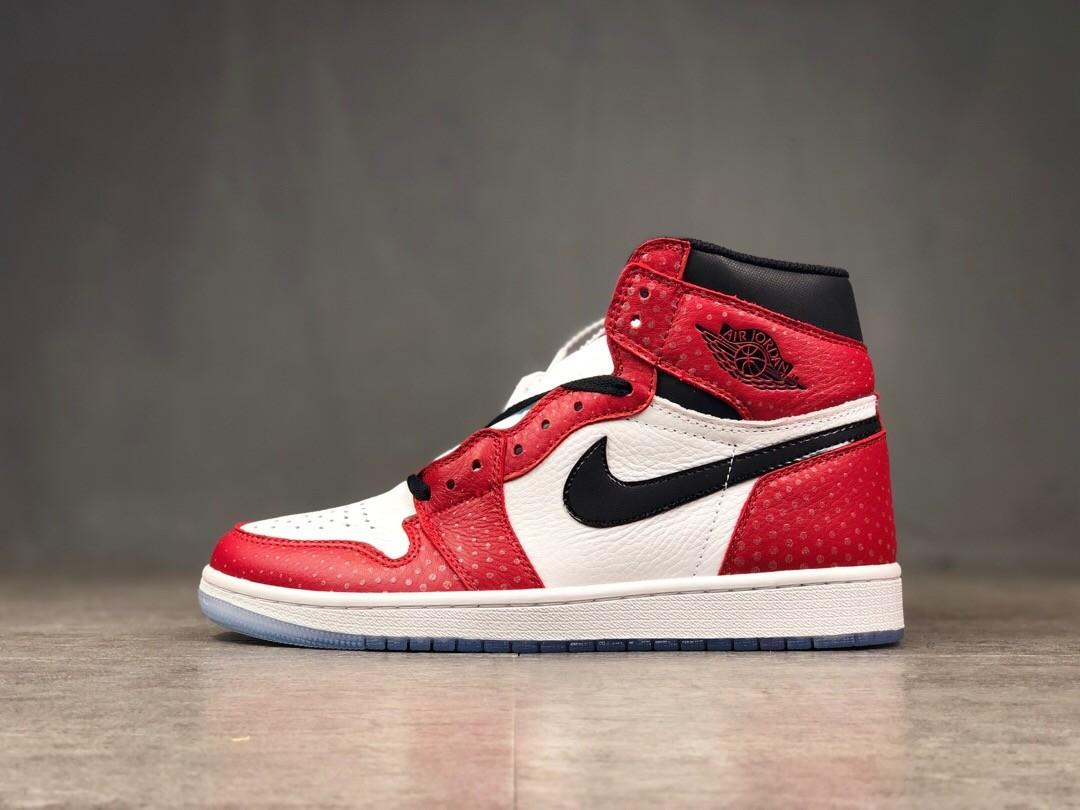 Air Jordan 1 High AJ Red&White Running Shoes