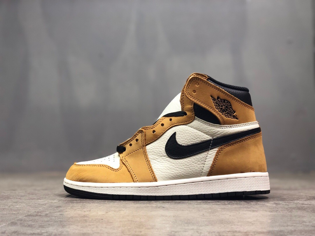 Air Jordan 1 High AJ Yellow Running Shoes