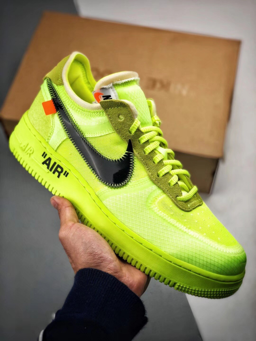 half off f693a 8082d OFF WHITE X Nike Air Force 1 Low 2.0 Neon Green Shoes