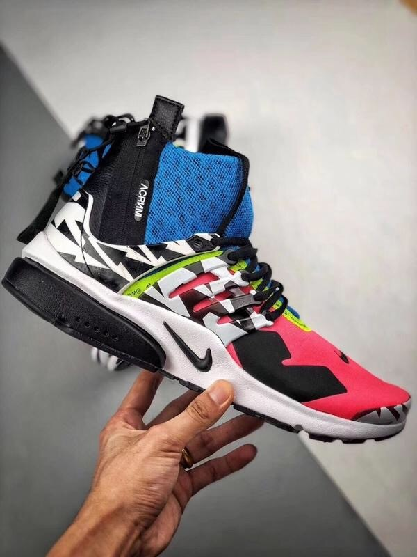 ACRONYM X Air Presto Mid Coolname Red&Blue Shoes
