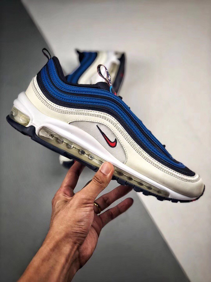 Nike Air Max 97  SE PULL TAB White&Blue Shoes