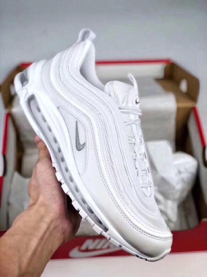 Nike Air Max 97 Ultra White Bullet Running Shoe Grey Logo