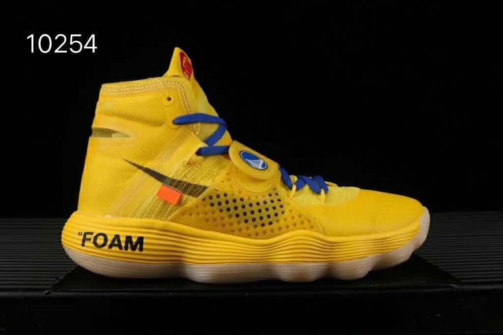 OFF-White X Nike React Hyperdunk 2017 Virgil Abloh Yellow Shoes
