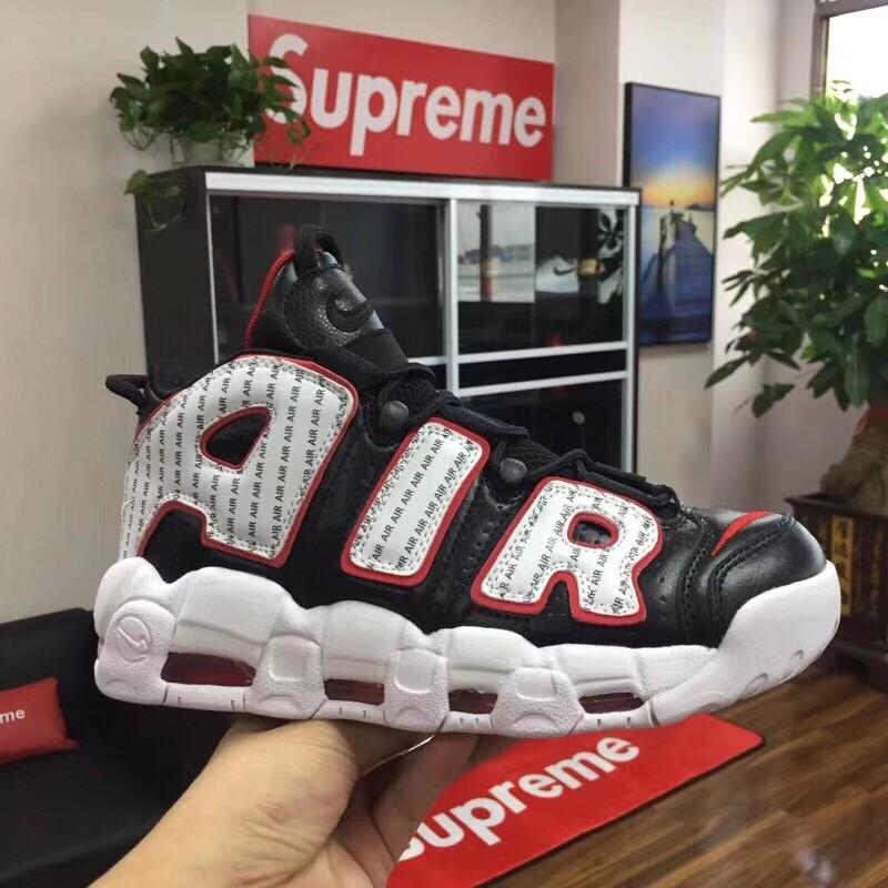 Nike Air More Uptempo X  LV Supreme Black&White Shoes
