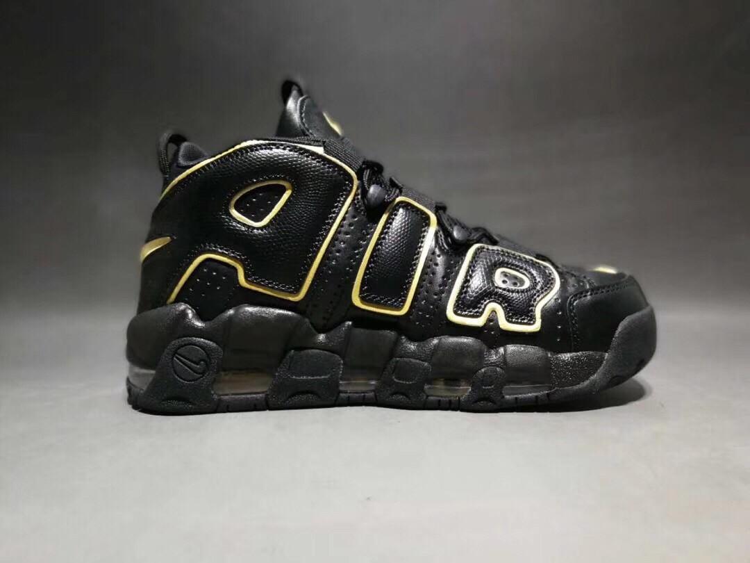 Nike Air More Uptempo X  LV SupremeBlack&Gold Shoes