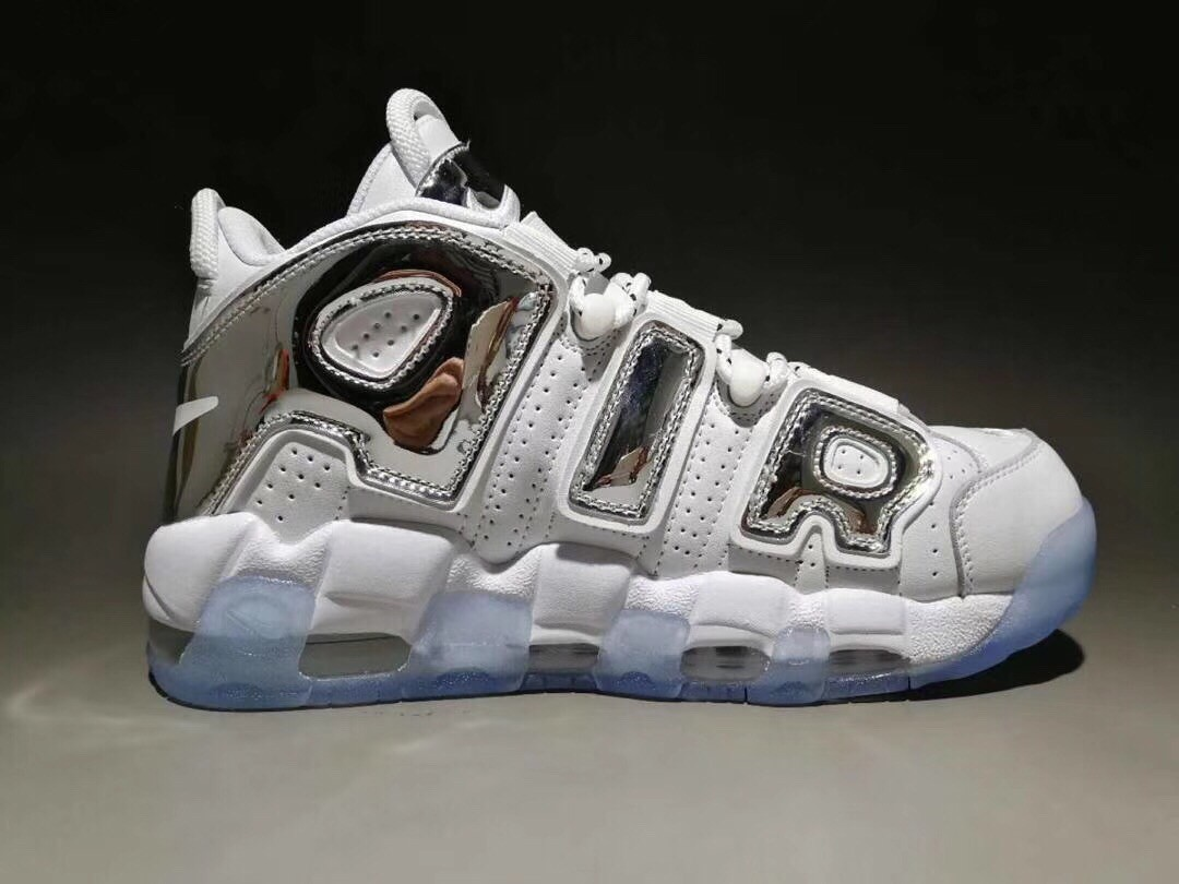 Nike Air More Uptempo X  LV Supreme Sliver White Shoes