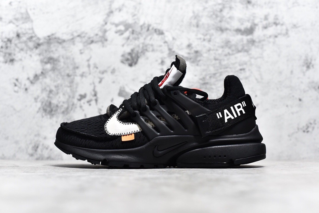 Off-White X Nike All Black Presto Running Shoe