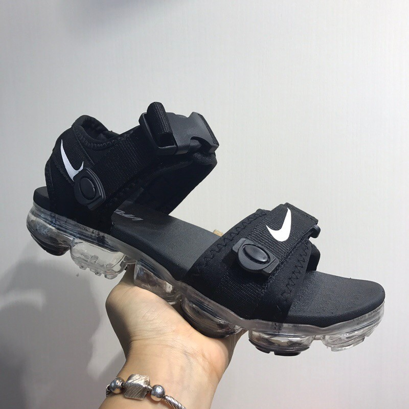 Nike Air Vapor Max Black Sandals With White Ground