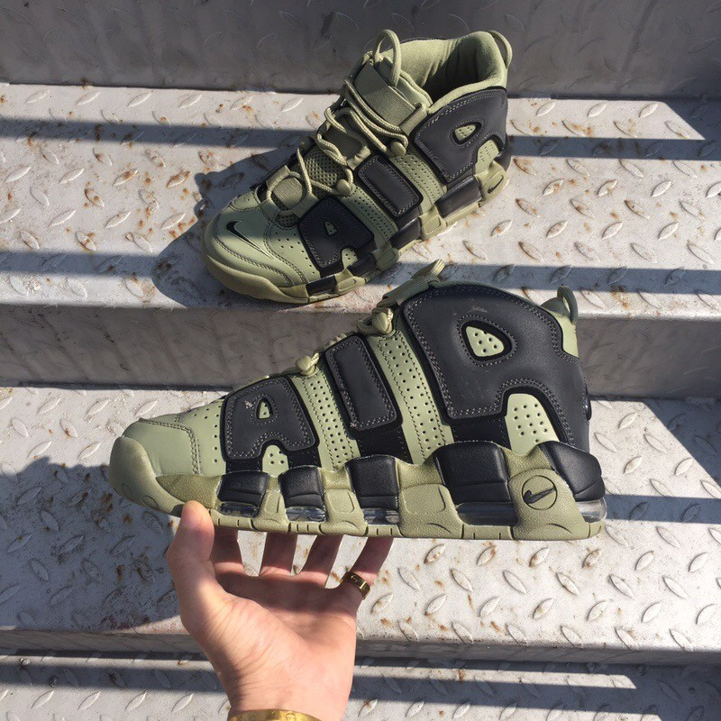 Nike Air More Uptempo X  LV Supreme Green Shoes