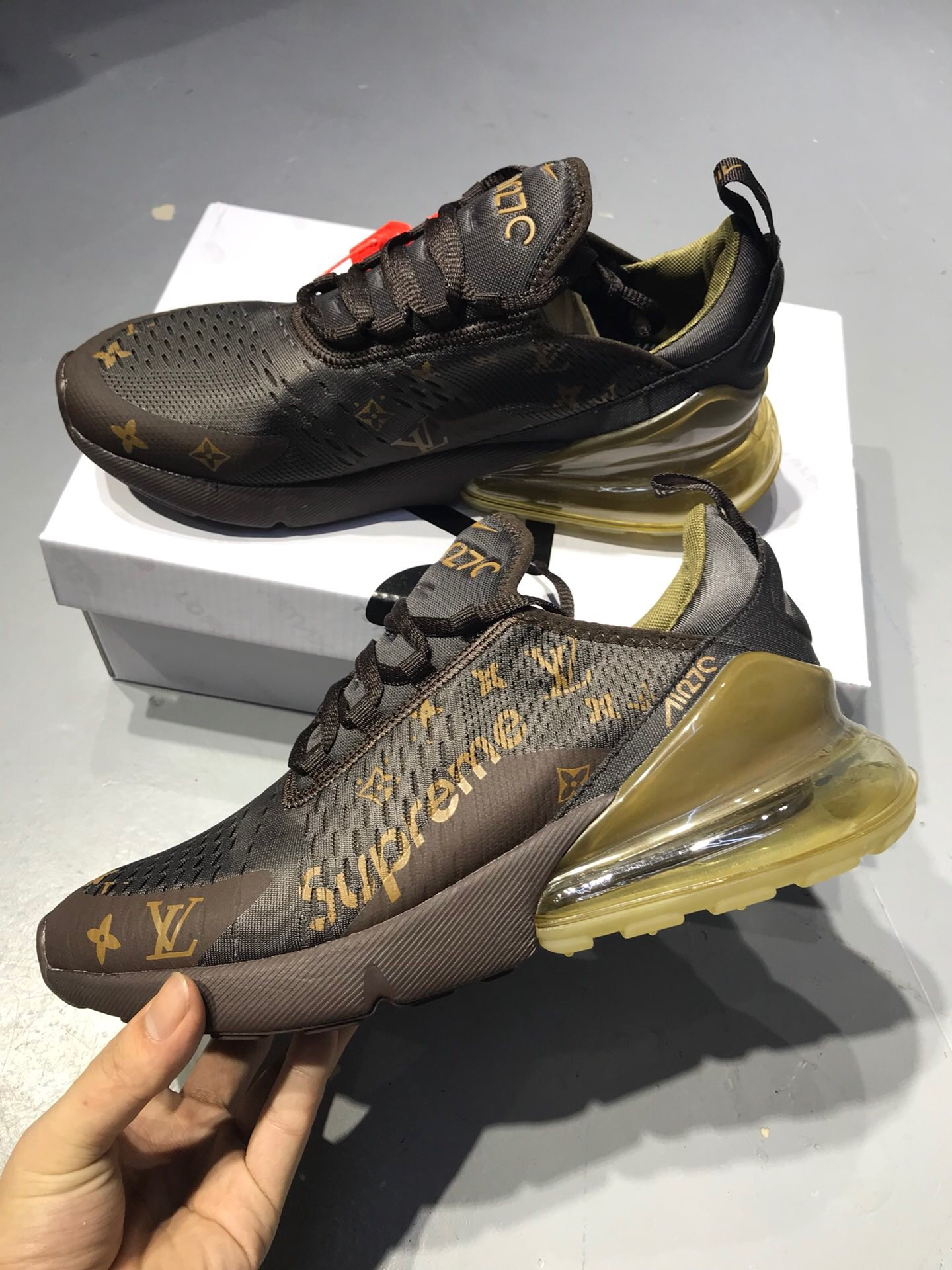 LV X Nike Air Max270 Yellow Jogging Shoes