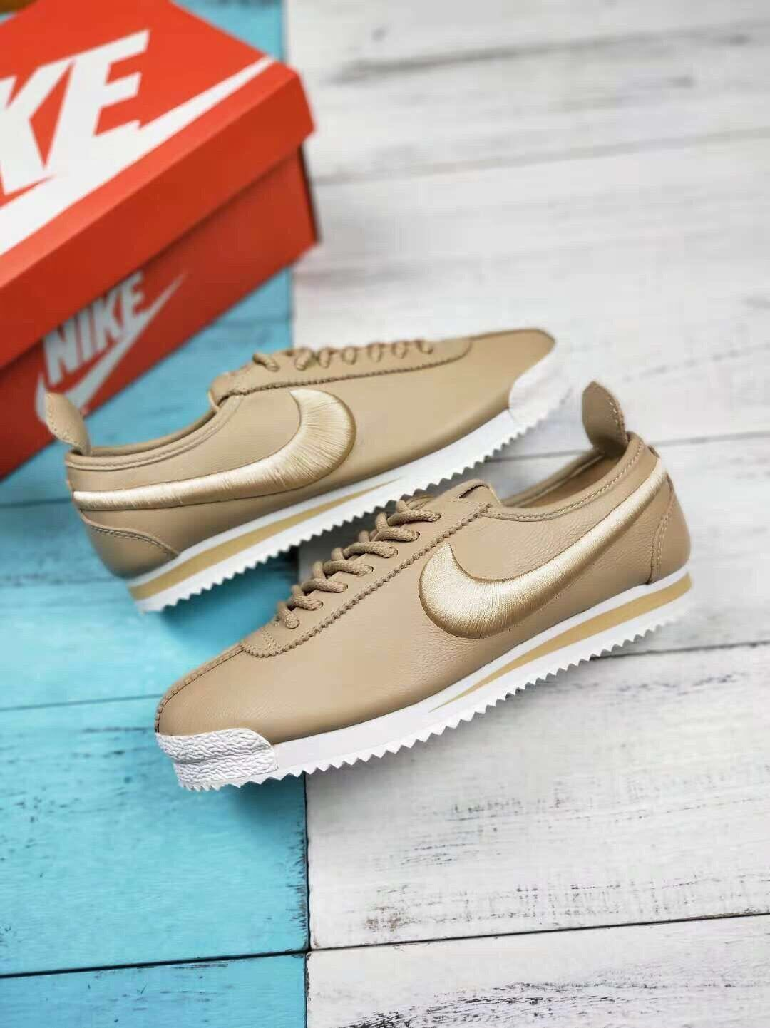 Nike x Cortez'72 Agam Yellow Leather Upper Vamp Sports Shoes