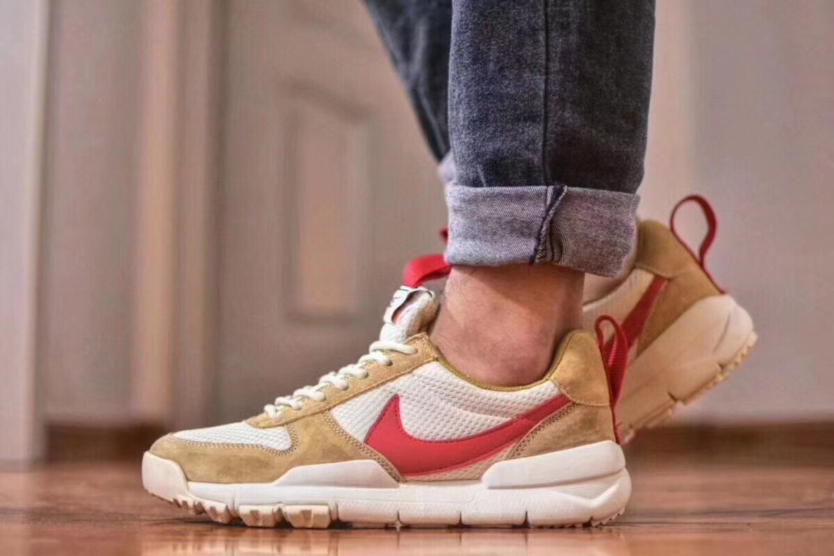 New 2018 Nike Craft Mars Yard TS Nasa 2.0 Khaki Upper Vamp & Red Logo Best Quality Shoes