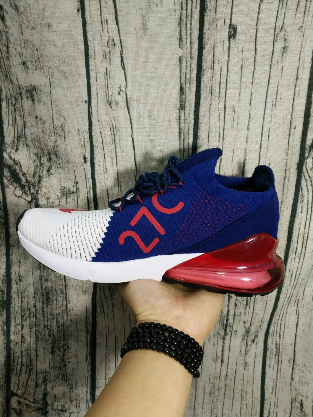 buy online a4bff 0cc7b High Quality Nike Air Max 27C Weave Red&White&Blue Shoes