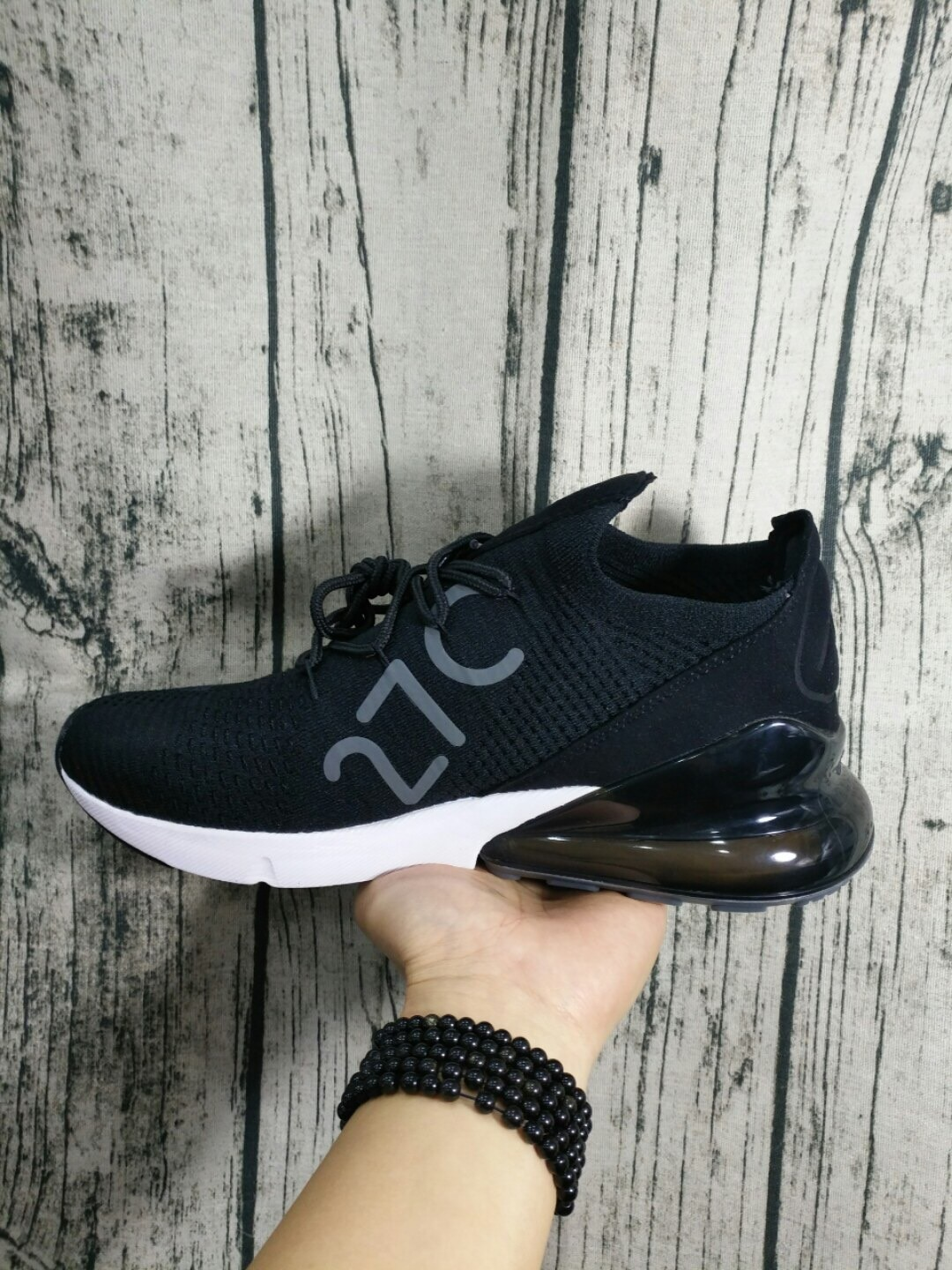 best service 80c23 6a65e Nike Air Max 27C Flyknit Black Shoes