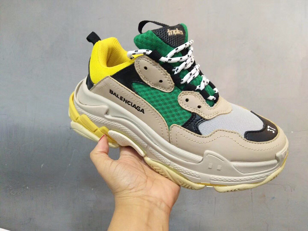 Balenciaga Retro Daddy Yellow&Green Running Shoes For Sale