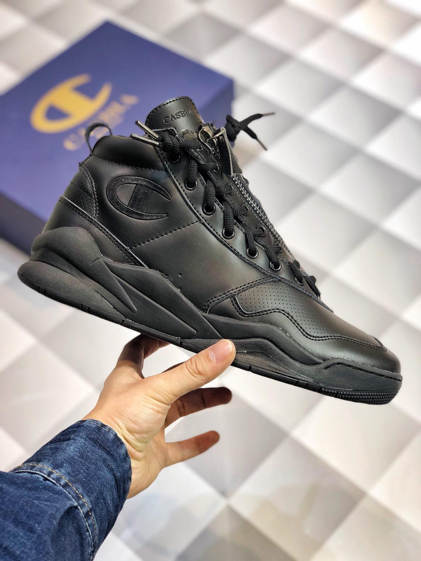 b3b9df73d557fe 2018 New Replica Champion Low Black Basketball Shoes 1 1 Quality