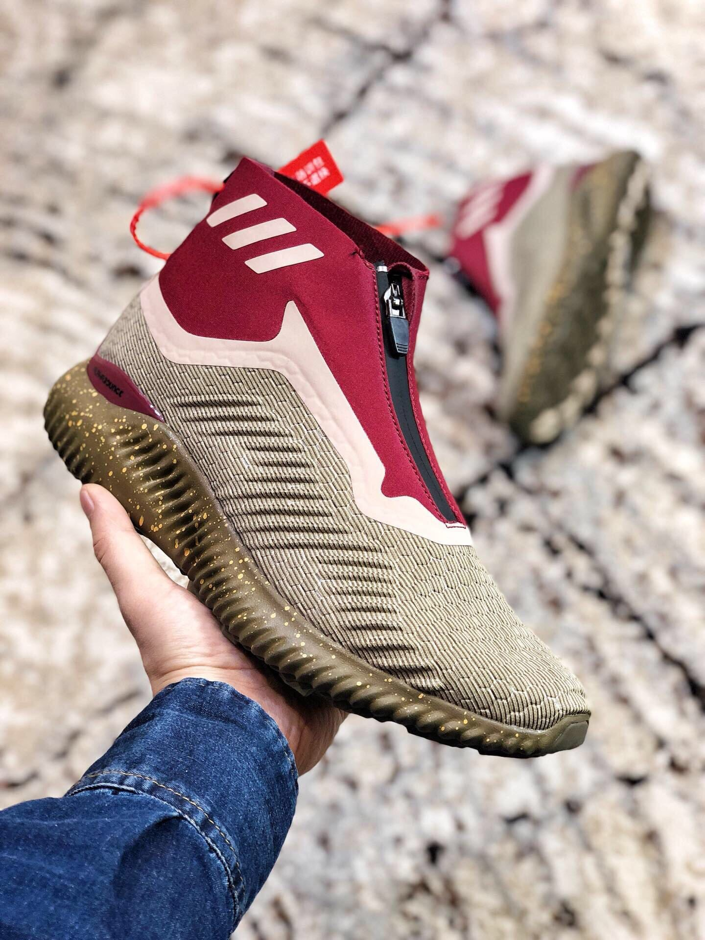 Adidas Alpha Bounce Zip Red&White Shoes