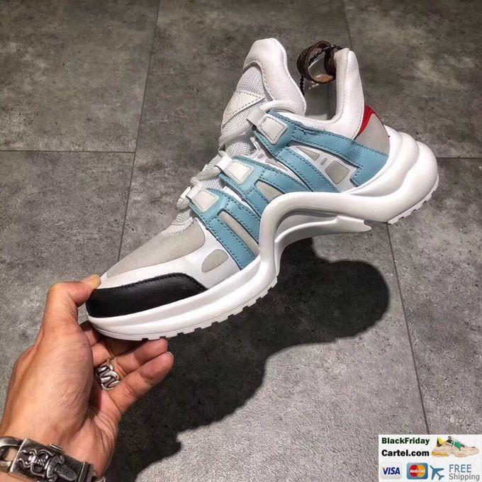 Louis Vuitton Sci-Fi Sneakers Vintage Dad Shoes White & Blue