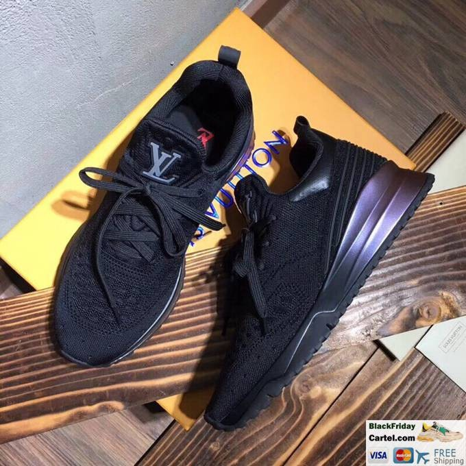 Louis Vuitton Sneakers Mens Flyknit Black Casual Shoes