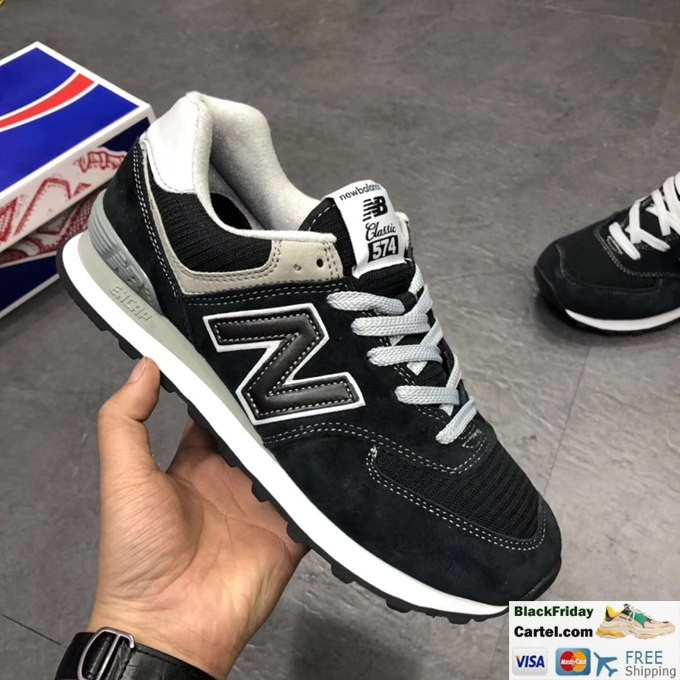 2019 New New Balance 574 Classic Black Running Shoes Casual