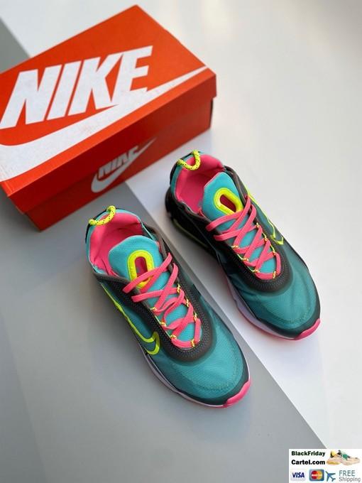 Nike Air Max 2090 Green & Pink Running Shoes