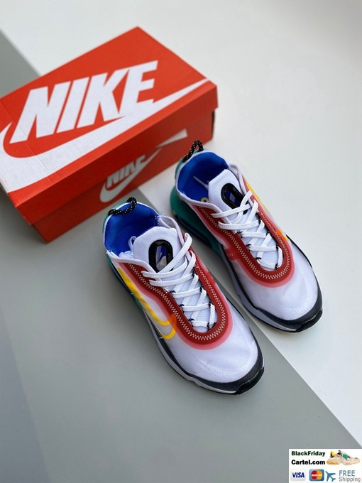 Nike Air Max Vapormax 2090 White & Red & Black Running Shoes