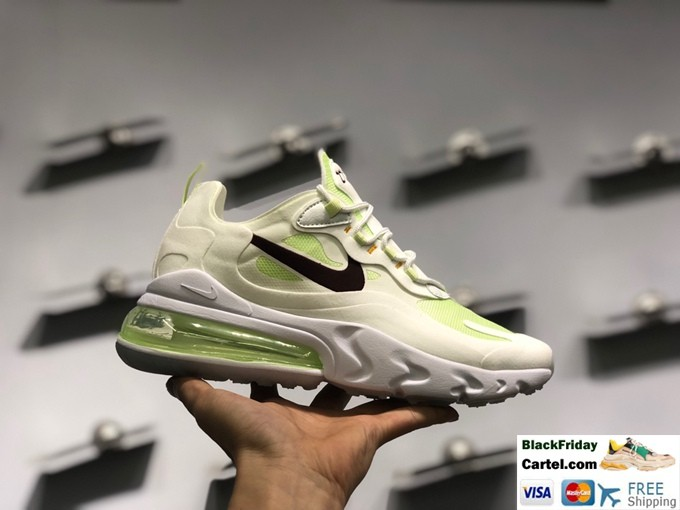 Nike React Air Max 270 Green Casual Running Shoes