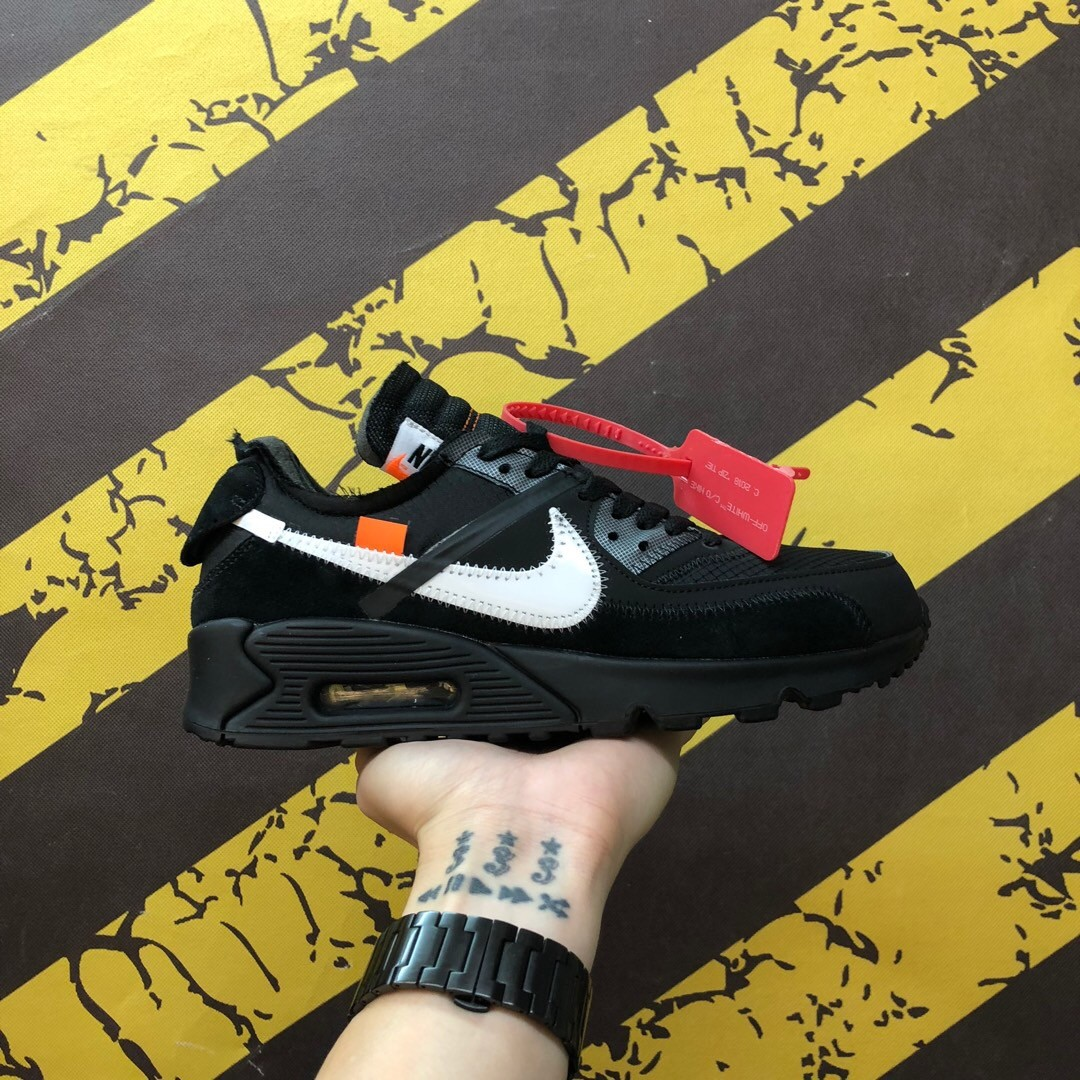 OF-White X Nike Air Max 90 2.0 Black&White Shoes
