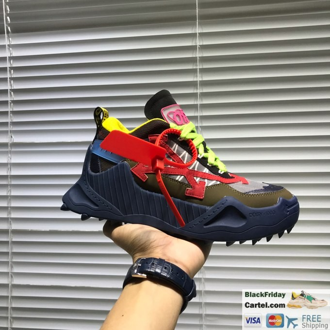 Off-White 2019 Dad Shoes Green Shoes Lace