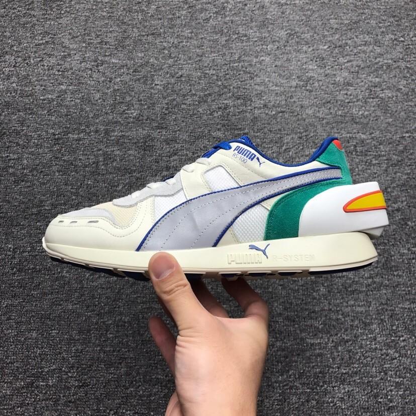 452efd40111 2018 New Replica PUMA Air Boost Retro White Green Running Shoes 1 1 ...