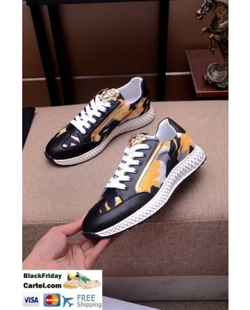 Hight Quality Versace 2019 New Mens Yellow Casual Shoes
