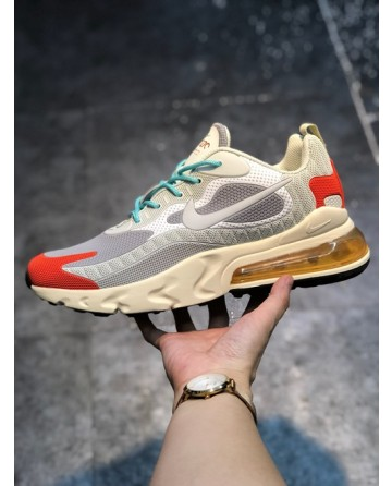 2019 Nike Air Max 270 Reacet Beige Running Shoes