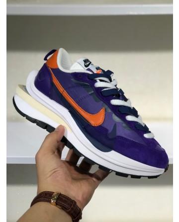 A New Sacai x Nike Pegasus Vaporfly Purple Orange Sports Shoes