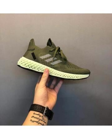Replica Adidas 4D LTD Technology Green Running Shoes