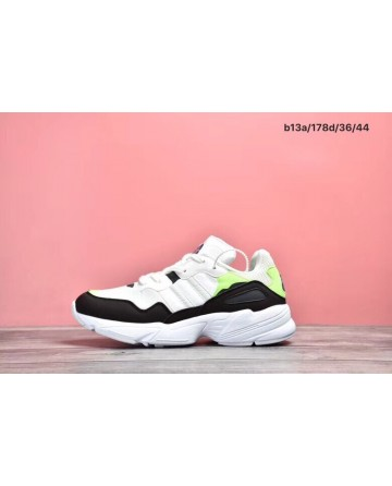 Replica Adidas 96 Retro Daddy Black&White&Green Shoes