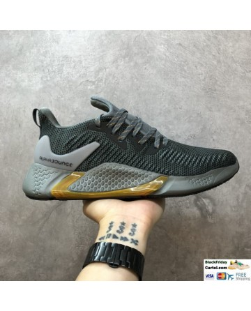 Adidas Alphabounce Instinct Grey Wave Pattern Running Shoes