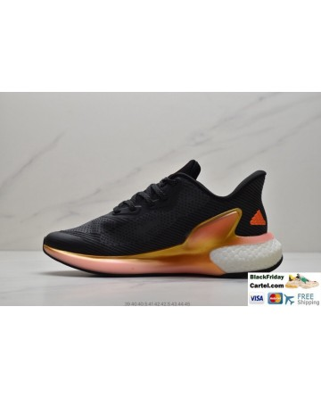 Adidas Alphabounce Men's Black & Orange Sneakers