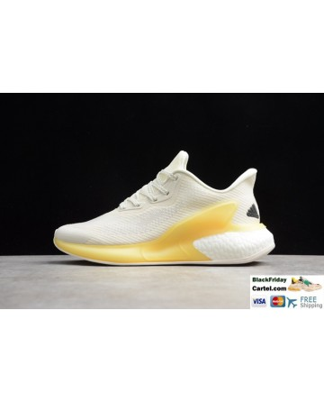Adidas Alphabounce Men's Running Shoes White & Yellow
