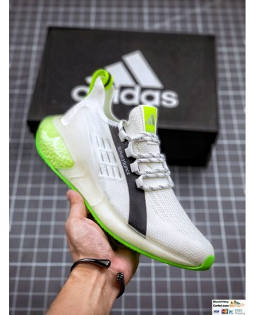 Adidas Alphabounce White & Green Sneakers