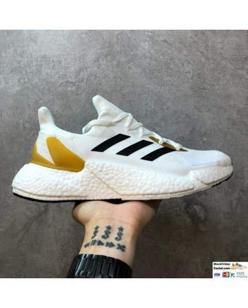 Adidas Boost X9000L4 White & Yellow & Black Running Shoes