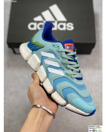 Adidas Climacool Boost Ice Blue and White Running Shoes