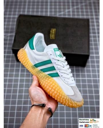 Adidas Kamanda White and Green Sneakers