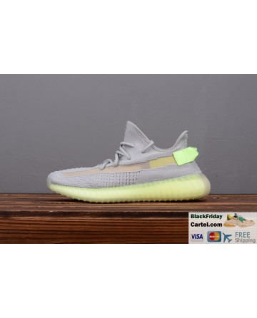 Adidas Yeezy Boost 350 V2 Grey & Green Men's Running Shoes
