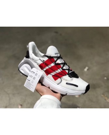 Replica Adidas Yeezy Boost 600 White &Red Stripe Shoes